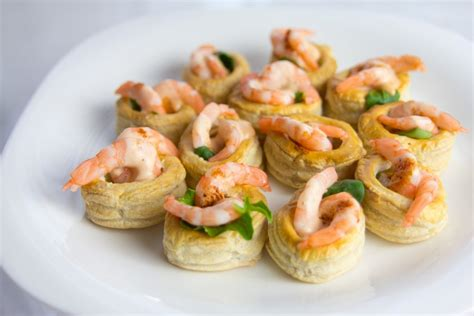prawn cocktail canapes pin vol au vent pastry cake on