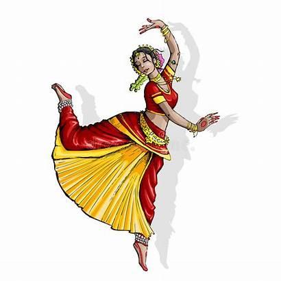Dance Indian Classical Dancer Clipart Illustration Vector