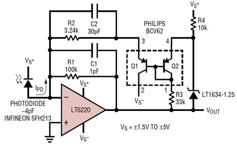 Stepped Gain Photodiode Amplifier Circuit Collection