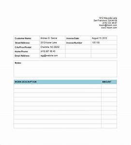 Bill Of Service Template Billing Invoice Template 7 Free Printable Word Excel