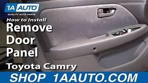 How To Remove Door Panel 97-01 Toyota Camry