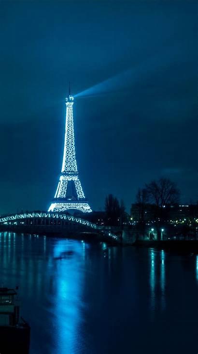 Tower France Paris Eiffel 4k Nighttime Lighting