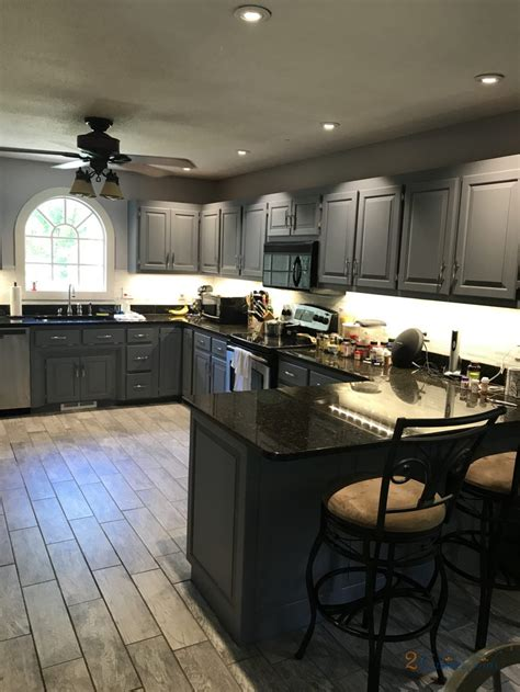 kitchen cabinets painted  gray  millers creek