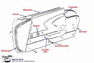1958 Corvette Door Panel Parts