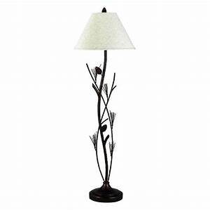 Cal lighting pinecone metal floor lamp target for Metal floor lamp target