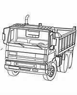 Coloring Truck Dump Trucks Printable Powerful Ready Vehicles Boys Cars Children sketch template