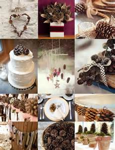 pine wedding winter wedding pine cone wedding decoration ideas 2057887 weddbook