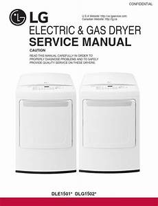 Lg Dle1501w Dlg1502w Dryer Service Manual And Repair Guide