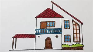 Comment Dessiner Une Maison Moderne YouTube