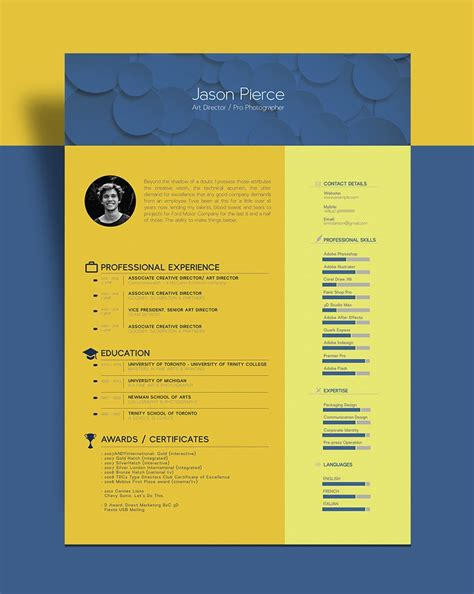 beautiful resume cv template  graphic designer