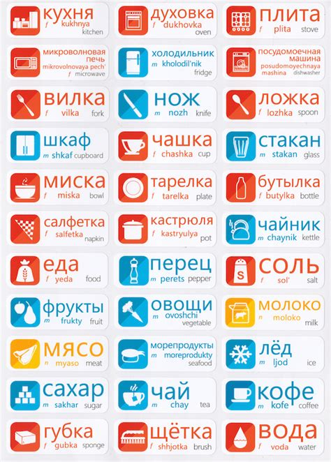 russian language learning stickers vocabularystickers