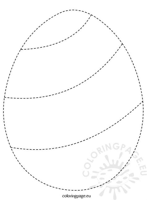 easter egg outline coloring page