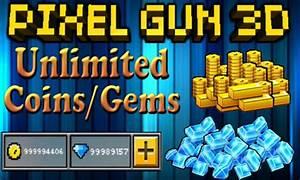 Free Pixel Gun 3D Hack Mod Apk FreeGemsCoins Tool APK