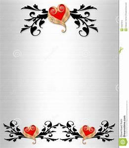 Wedding Invitation Elegant Borders Stock Images - Image ...