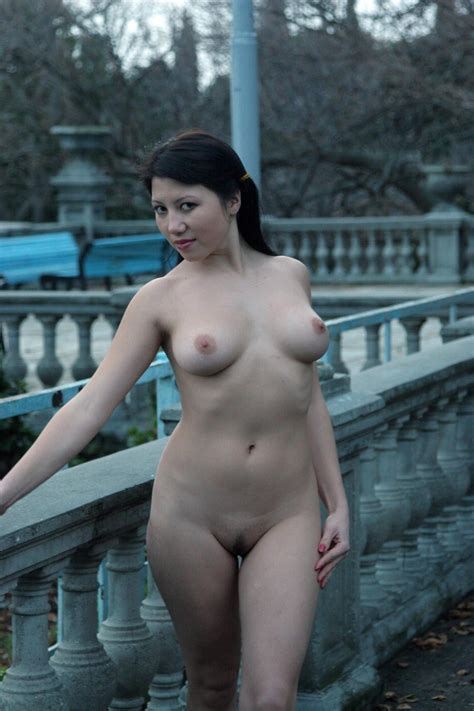 Naked Busty Girl Walks Around The Sights — Russian Sexy Girls