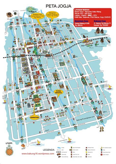 peta kota peta kota jogja