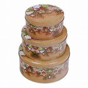 Bilder Set 3 Teilig : keksdosen set 3 teilig rund weihnachten motiv weihnachtskekse ~ Indierocktalk.com Haus und Dekorationen