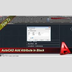 Autocad How To Add Attribute To Block Youtube