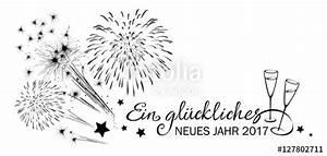 Sektgläser Schwarz Weiß : gru karte silvester mit feuerwerk sektgl ser und schrift ein gl ckliches neues jahr 2017 ~ Watch28wear.com Haus und Dekorationen