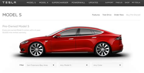 Tesla Launches An Online Marketplace To Sell Used Model S