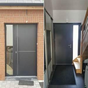 Barre De Porte D Entrée : pose d une porte d entr e en aluminium de chez kline ~ Premium-room.com Idées de Décoration