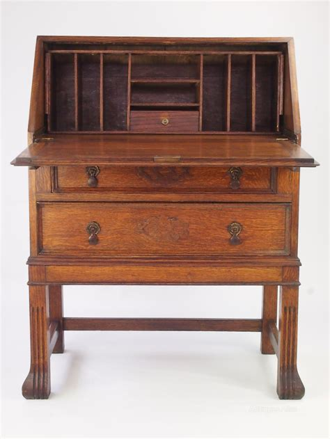 in bureau vintage oak bureau bureau writing desk antiques atlas