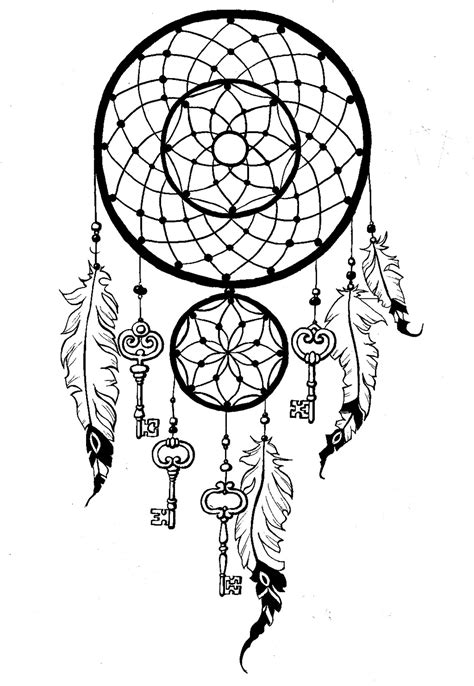 Dreamcatcher to print and color : keysFrom the gallery : Zen & Anti Stress | Dream catcher