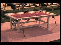 how to make a pool table Outdoor Pool Table - YouTube