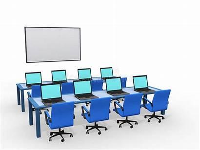 Classe Salle Computers Classroom Avec Klassenzimmer Modernes