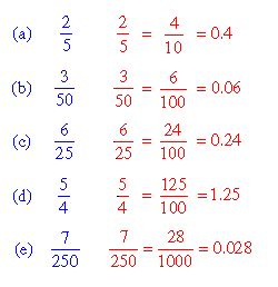 how do you turn decimals into fractions unit 17 section 2 converting fractions to decimals