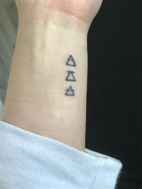 explore challenge transcend triangle glyphs small
