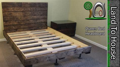 diy headboard   queen size bed youtube