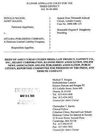 Maxon v. Ottawa Publ'g Co. | Cyberlaw Clinic