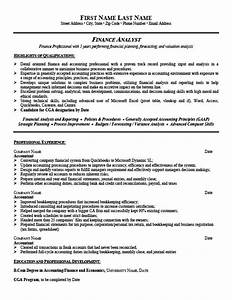 financial analyst resume template premium resume samples With sample resume of a financial analyst