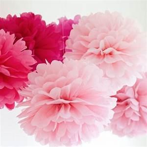 Boule De Rose : boule pompon papier de soie rose 25cm decoration mariage badaboum ~ Teatrodelosmanantiales.com Idées de Décoration