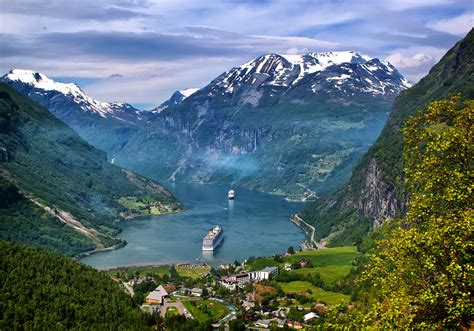 Elevation Of Geiranger Norway Topographic Map