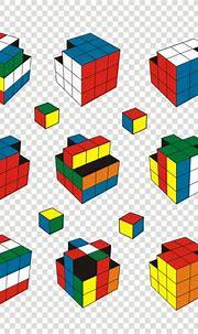 Rubik's cube illustration Vector   Premium Download