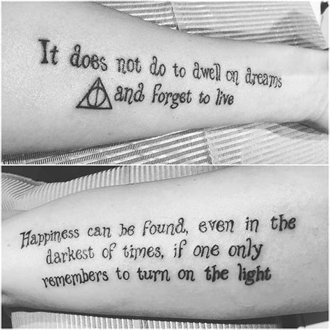 magical harry potter tattoos youll
