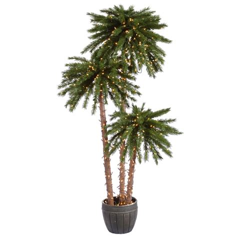 vickerman 21673 4 5 7 potted palm trees dura lit 650cl