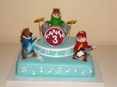 Alvin And The Chipmunks Cake Decorations by Alvin Chipmunks Cake Birthday Cake Ideas