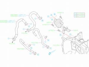 Subaru Impreza Hose Complete-water  Transmission  Cooler  Case  Automatic  Atf