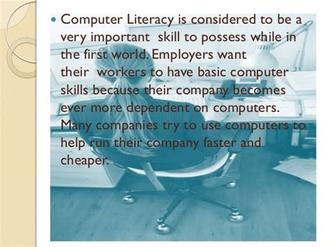 Importance Of Computer Literacy. How To Create A Cover Letter For Resume. Top Resume Sites. Sample Resume Of A Teacher. What To Put In Resume Profile. Resume Samples Online. Teacher Resumes Samples. Substitute Teacher Resume With No Experience. Resume Format For Mca Student
