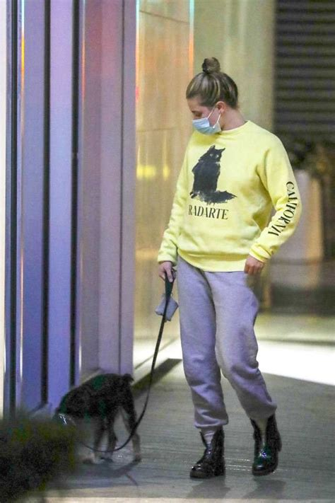 Lili Reinhart in the Yellow Sweatshirt as She Takes her ...