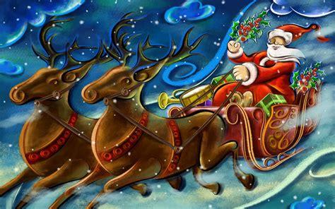 santa clause creative art work wallpapers hd wallpapers