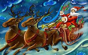 Art Clause Creative Santa Artistic : Full HD desktop ...