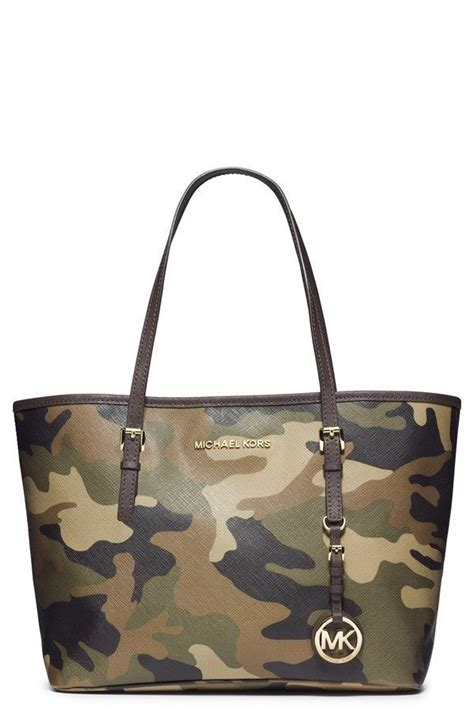 michael kors handbag camo army small jet set travel tote women purse stylish michaelkors