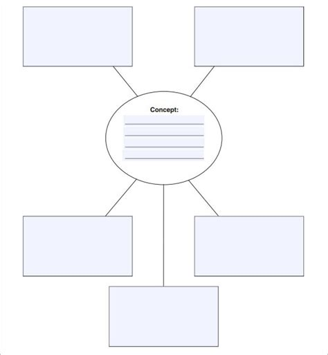 Nursing Concept Maps Templates by Best Photos Of Printable Blank Concept Map Template