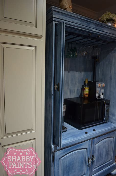 TV Entertainment Center Repurposed Kitchen Pantry/Coffee Bar