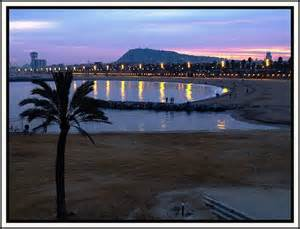 Barcelona Spain Beaches Night