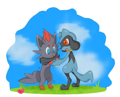 Zorua And Riolu By Thunder85 On Deviantart